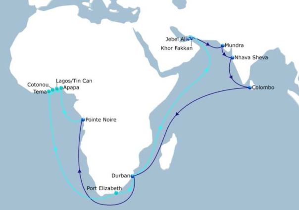 CMA CGM launches a second service between India, Middle East and Africa