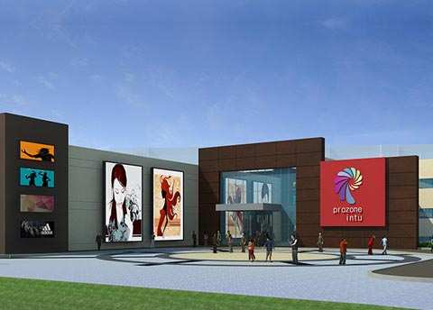 South African based Bentel Architects design a mall in Coimbatore